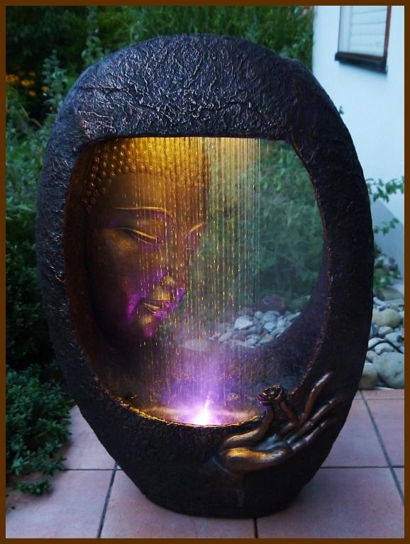 Fontanna ogrodowa pokojowa biurowa deszczowy budda 2 extrahome - Gartenbrunnen buddha ...