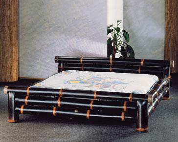 Unikatowy Czarny Bambus łóżko Do Sypialni 180200cm Extrahome